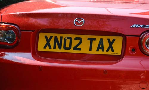 Private Number Plate: No2tax