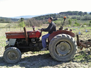Tractor at Les Pastras