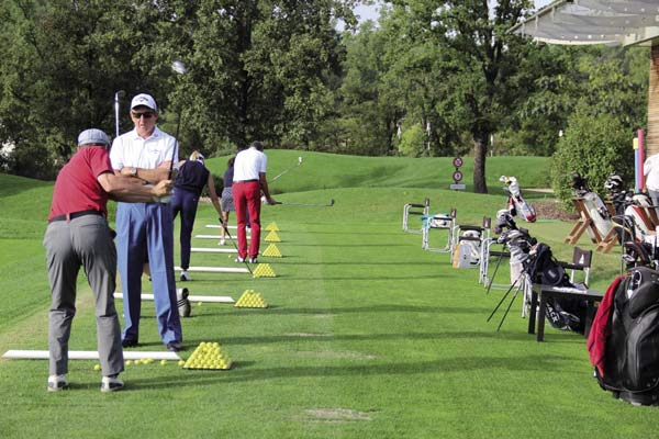 David Leadbetter practice session