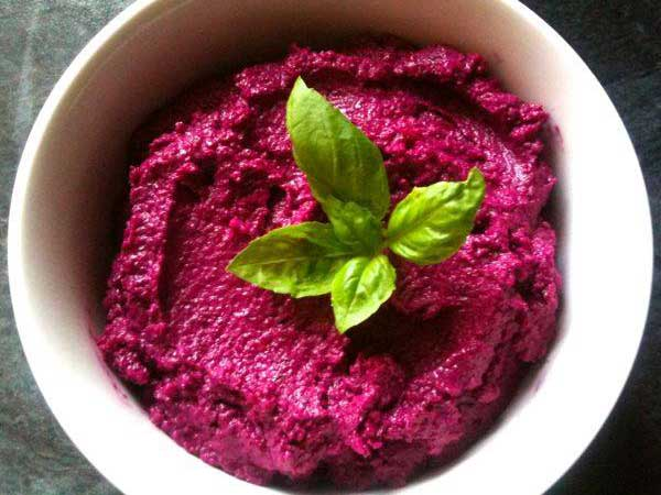 Beetroot Hummus from The Clever Kitchen
