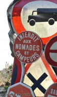 French Riviera road sign