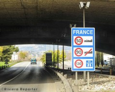 Autoroute from Nice airport