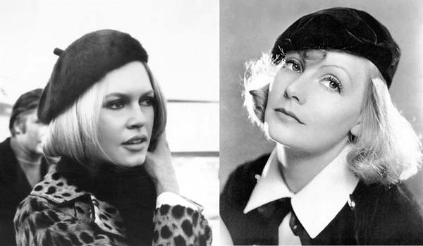 French beret on actresses