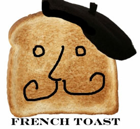French toast, with a beret