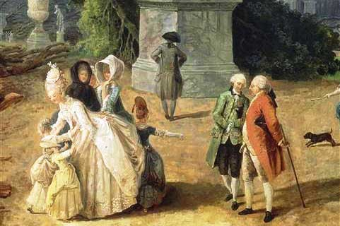 Marie Antoinette in garden with children