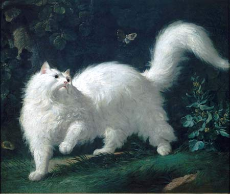 Painting of a white cat