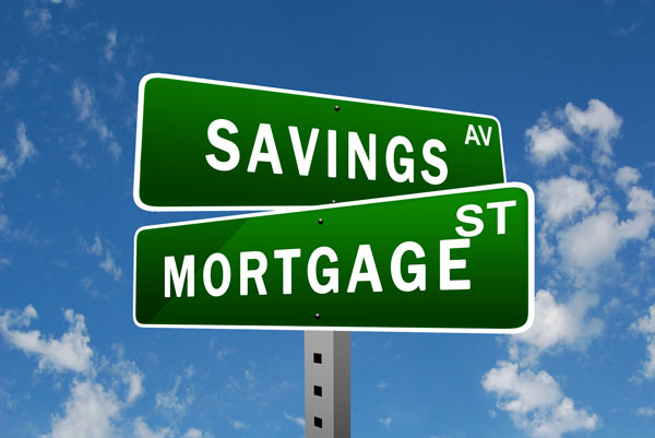 Savings and Mortgage road signs