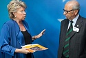 Viviane Reding and Harry Shindler