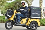 La Poste's yellow scooter