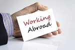 Working abroad sign